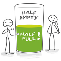 Are You A Glass Half Full Person Everyday Idioms