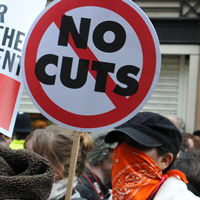 protest the cuts