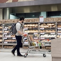 Eggs are in aisle 3: the language of supermarket shopping